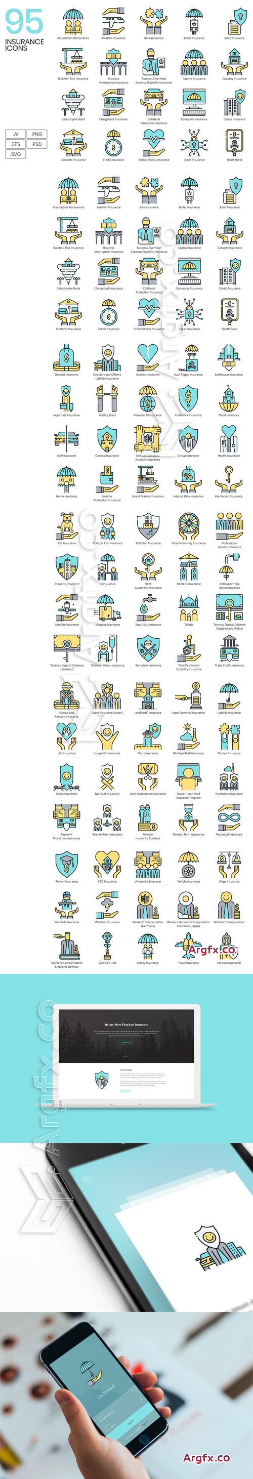 95 Insurance Icons