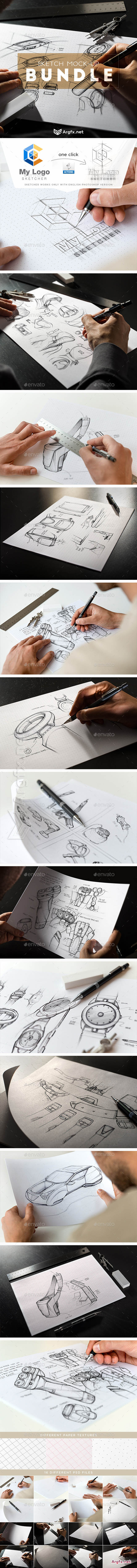 GraphicRiver - Sketch Mock-Up Bundle 11469539